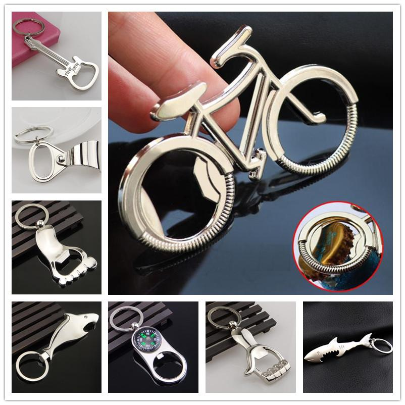 Creativity Bicycle Metal Beer Bottle Opener Cute key rings for bike lover Wedding Anniversary Party Gift Bike keychain c632