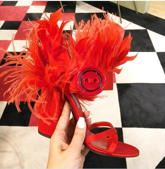 Hot Classics Red/Black/pink/orange Split Leather Elastic band shoe Cross-tied Women's Shoes Thin Heels big Size Women's Sandals