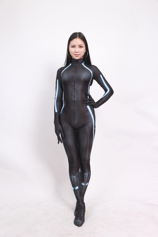 Black Widow Kampfanzug The Avengers Black Widow Cosplay Kostüm Spandex Print Lady Zentai Engen Anzug Maßgeschneiderte Halloween-Anzug