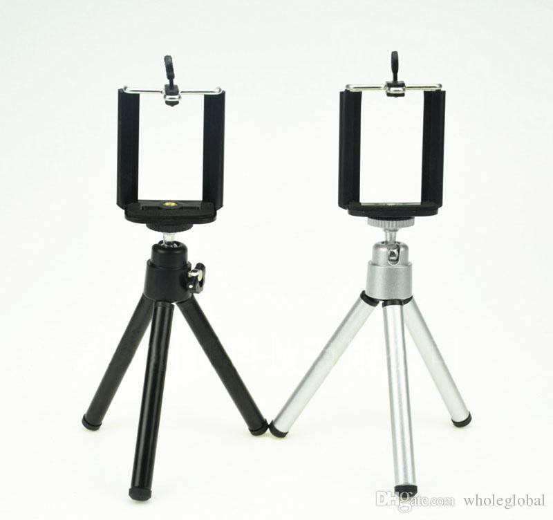 Universal-Rotation Mini-Metall-Stativ Halterung Halter mit Telefon-Klipp für Handy-Kamera für iPhone Samsung