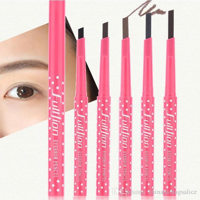 Wodoodporna długotrwałych brwi ołówek wielokolorowy rotacja brwi liniowa wykwintna nie zawroty głowy dla kobiet kosmetyki makijaż