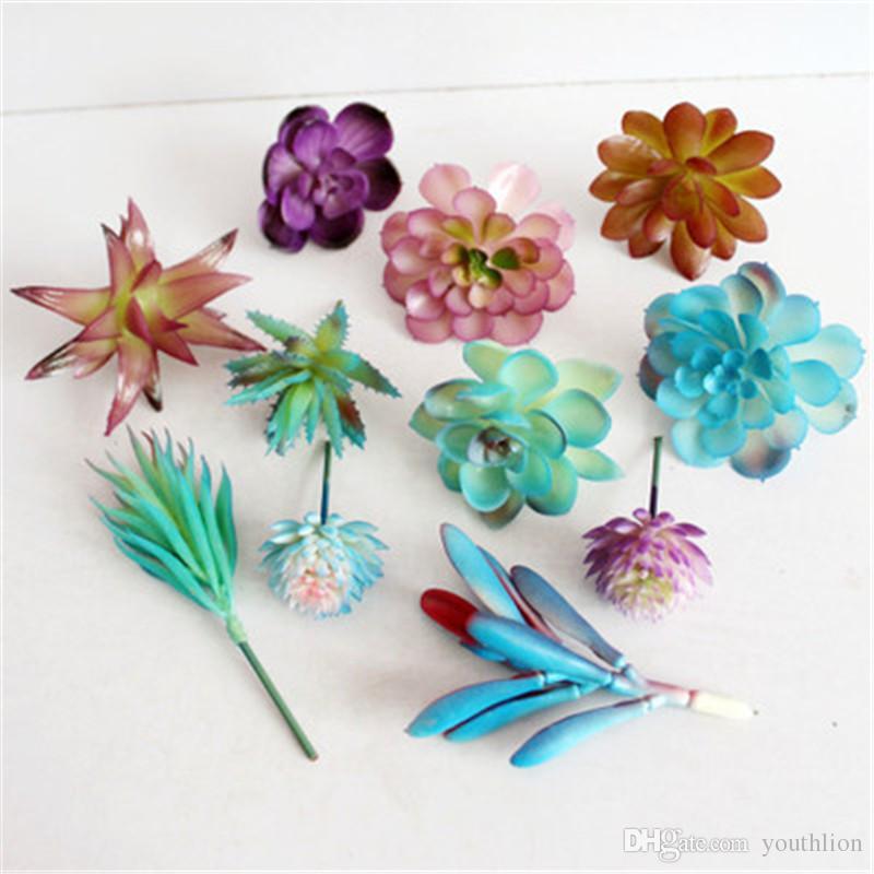 Artificial Plants Simulation Succulent Plants DIY Home Garden Decoration Simulate Flowers Plastics Multi-style Fake Flowers Ornaments