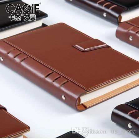 CAGIE старинные кожаный ноутбук планировщик делители 2018 спираль ноутбук A5 повестки дня Filofax A6 личный дневник Binder карманный журнал
