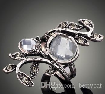 Nuovo arrivo donna uomo gioielli moda rami e foglie anello amore San Valentino Natale madre festa regalo