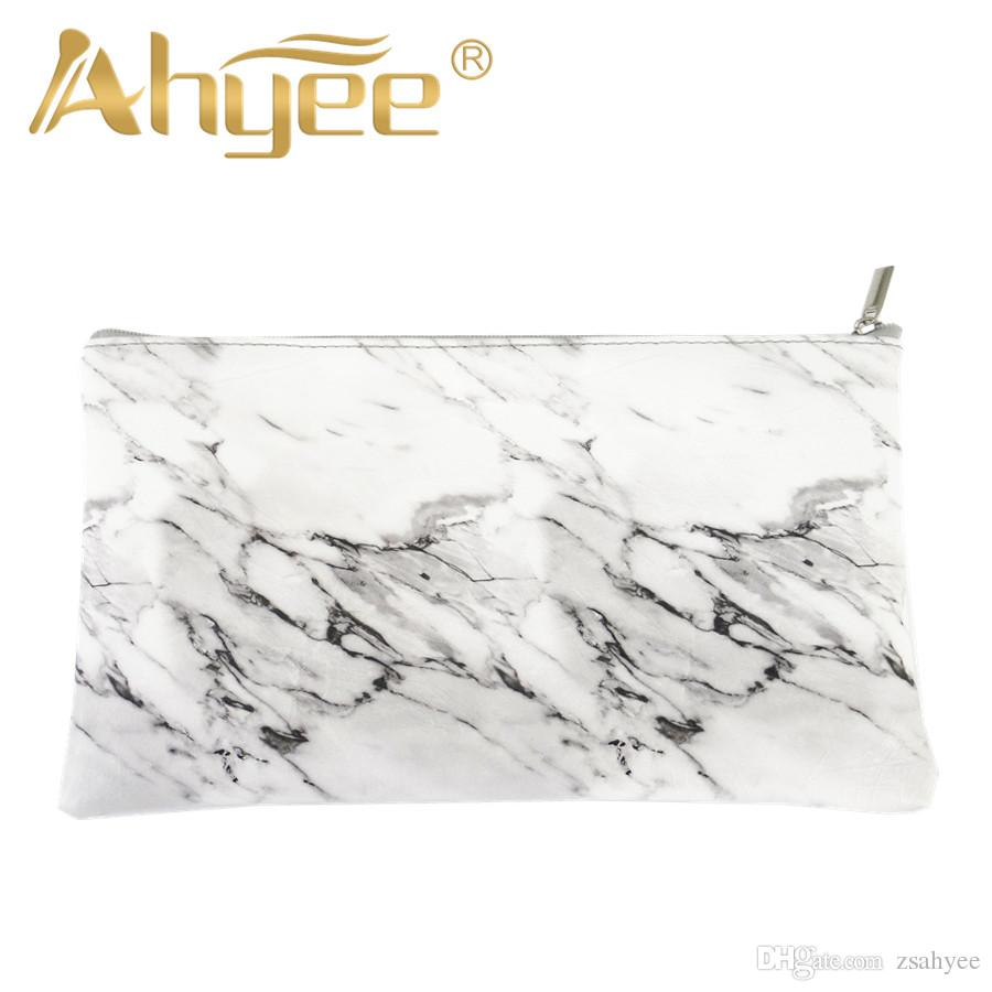 1Pcs Zipper Marble Cosmetic Bag New Fashion For woman Makeup Storage Brushes Pen Coin Portable Ladies Travel Square Beautiful High Quality