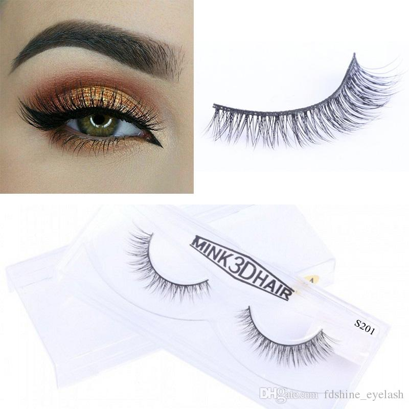 Природные накладные ресницы 100% толщиной реального норки волос ресницы полный газа ресницы расширения для красоты макияж