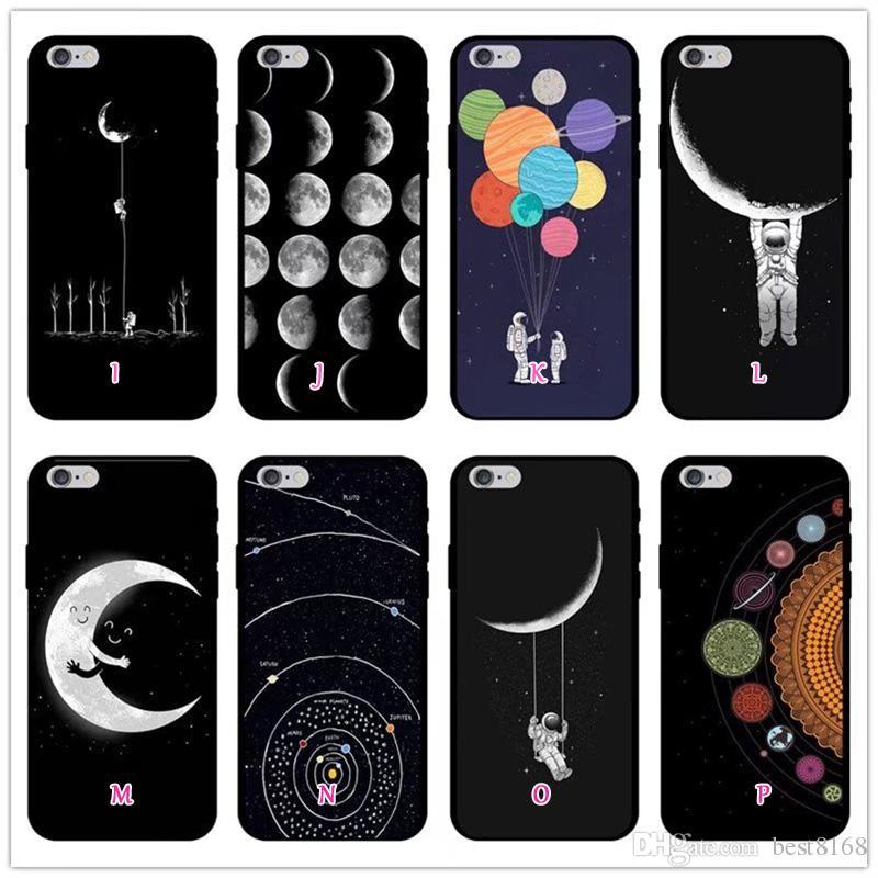 Cover Cellulari Custodia Cellulare Space Moon Astronaut Pattern