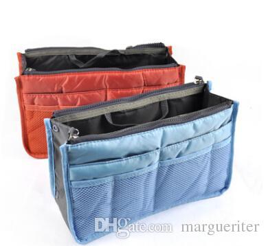 Makeup Storage Bag Portable Cosmetic Organizer Multifunctional Bag In Bag Double Zipper Bags Women Travel Pockets Handbag