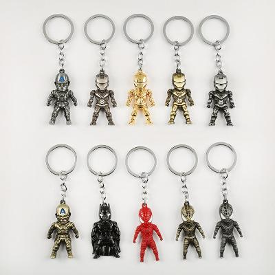 Marvel Avengers League Film And Television Iron Man Spider-man Captain America Pendant Keychain Key Ring Alloy Pendant Jewelry