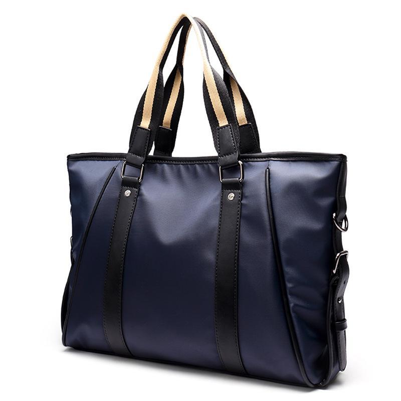CBJSHO Nylon Men's Briefcase Bag For Men Business Messenger Handbags Laptop Men Shoulder Bags Cross Body Men's Casual Bag