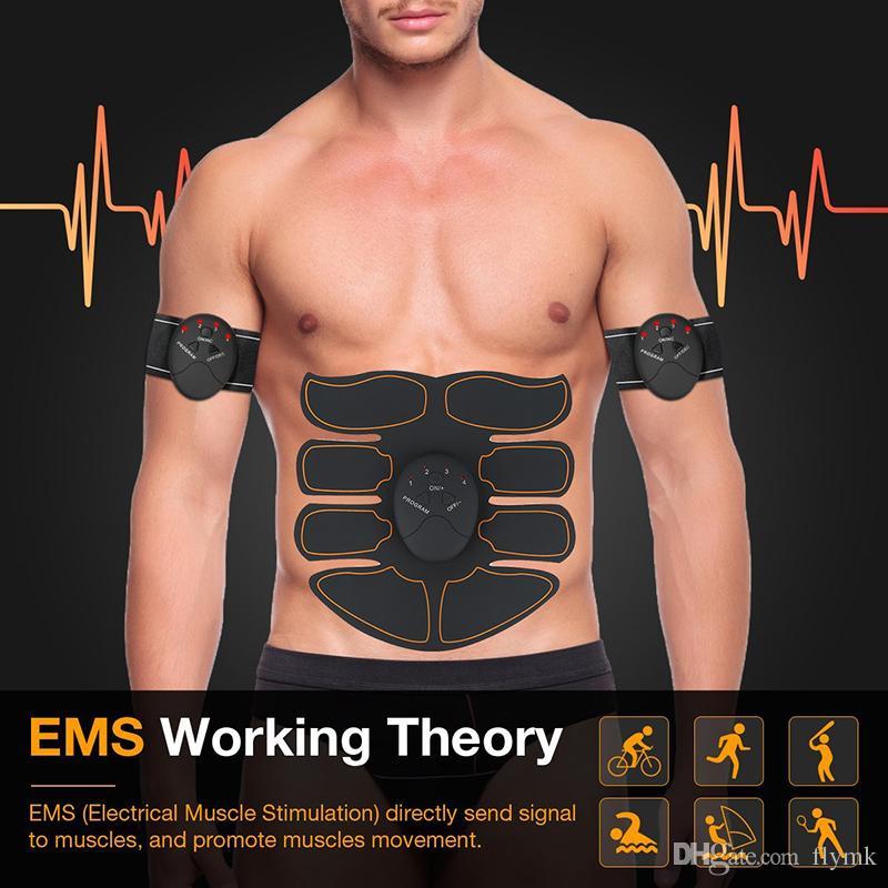 Fitness ABS Simulator EMS Training Smart Body Abdominal Muscle Exerciser Belt