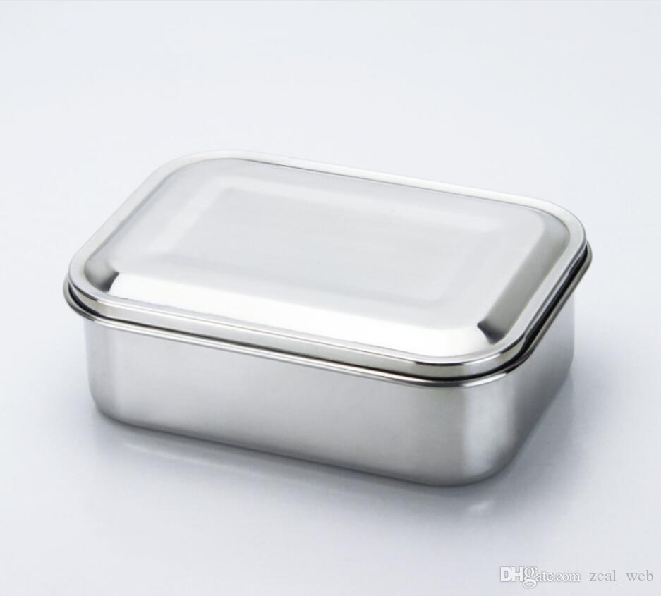 Контейнер еды нержавеющей стали 800ml раскрывает коробку змейки коробки обеда нержавеющей стали конструкции для сандвичей, Обручов, салатов