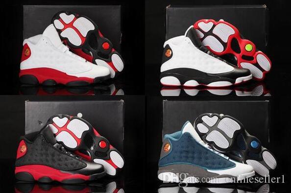 Clássico de Luxo 13 tênis de basquete trigo Flints verde azeitona Chicago Hiper reais 13s Outdoor Sports Shoes Com Box