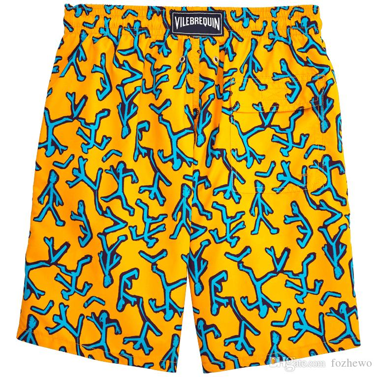 Vilebre Summer board shorts cartoon pattern loose swimwear men swimming trunks sweat sexy swimsuits mens bermudas beach surf gym
