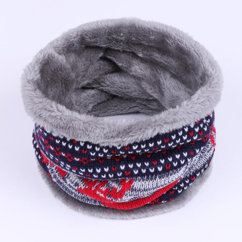 Moda invierno bufanda de cuello mujer Unisex niños doble capa de lana tejido de punto engrosado pañuelo de algodón