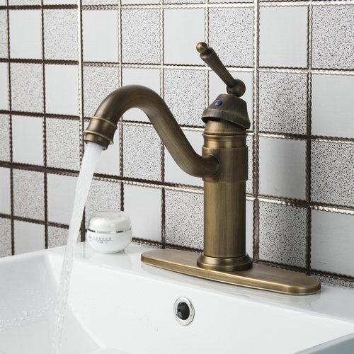 Swivel Antique Brass Double Handles + Cover Plate+Hot/Cold Hose 86445726 Kitchen Torneiras Cozinha Basin Sink Tap Mixer Faucet