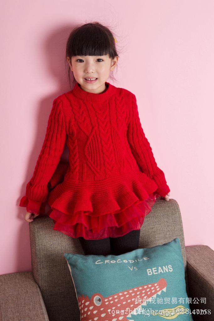 Modelos crianças roupões crianças vestido casual elegante Meninas importadas de algodão + organza importado Partido brithday vestido de manga longa