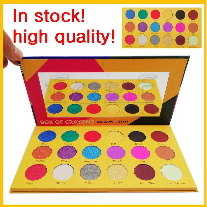 Best makeup Box of Caryons eyeshadow for cheap 18 colorful face eye Ishadow palettes powder in 2018 cosmetics wholesale brands free shipping