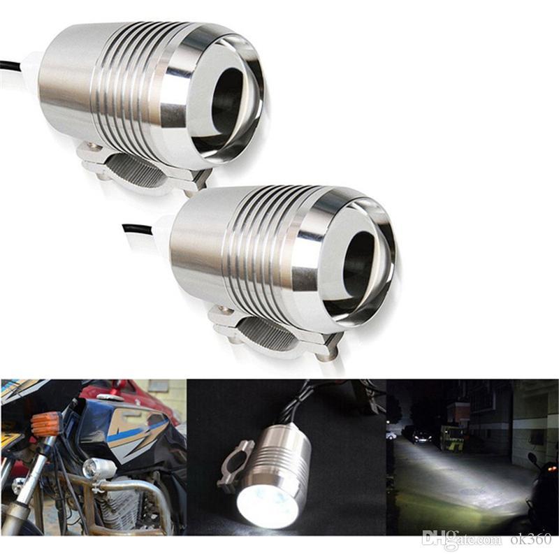 2 pcs Motocicleta Farol U2 1200LM 30 W Alto Baixo Flash de LED de Condução Nevoeiro Cabeça Ponto Lâmpada Luz Da Lâmpada Farol luz Dianteira