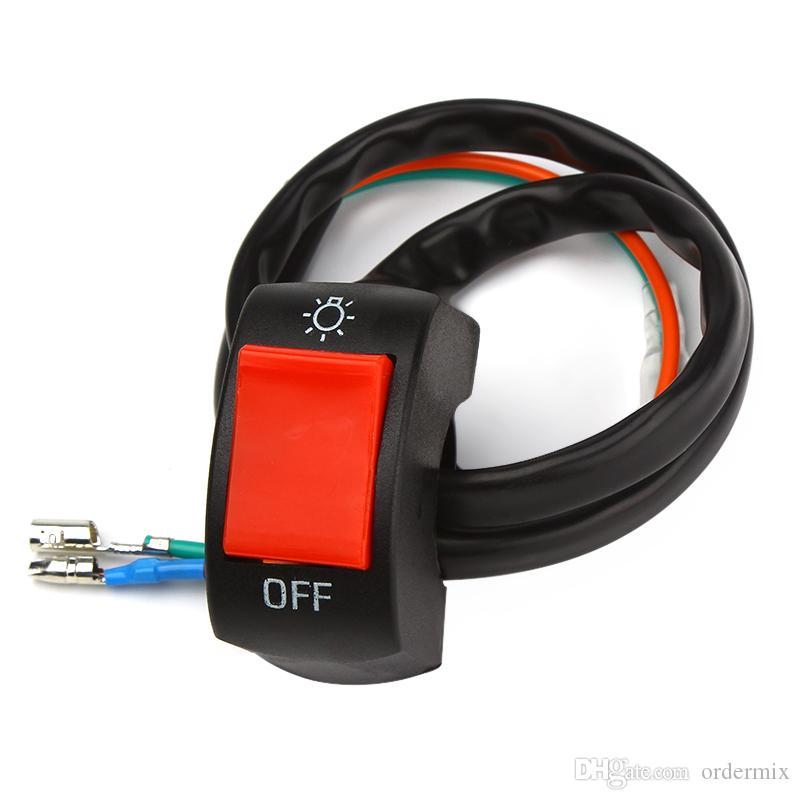 Motocicleta Switches 12V DC Sistema Elétrico Conector de Bullet Guiador Switches On / Off Button Connector Acessórios De Moto