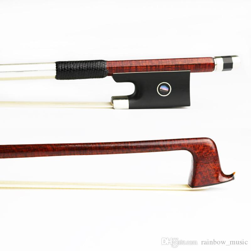 NEW 4/4 Size Hard Carbon Fiber Violin Bow Pernambuco Skin,Natural Mongolia Horsehair Ebony Frog Strong Violin Parts Accessories
