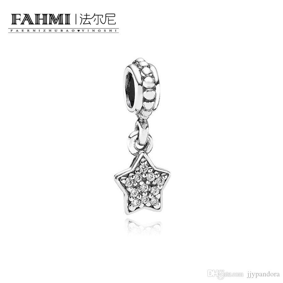 Fahmi 100% 925 Sterlingsilber 1: 1 Original 791024CZ Authentisches Temperament Mode Glamour Retro Anhänger Hochzeit Frauen Schmuck