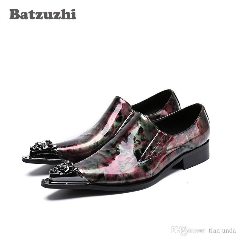 EU38-46 Scarpe da uomo in pelle personalizzate di lusso Scarpe da uomo con punta a punta Slip-on Scarpe stile abito italiano per uomo Zapatos Hombre