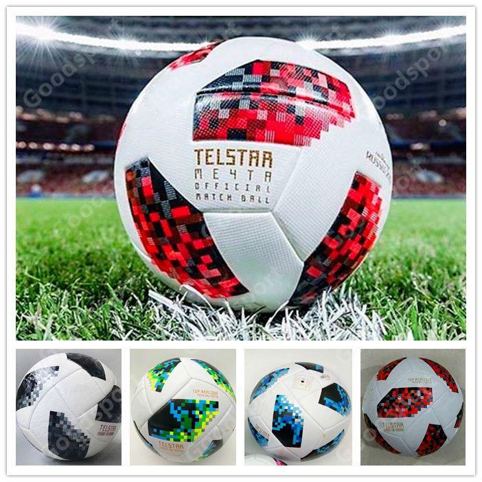 2018 Red knock-out jogo da fase de KO RÚSSIA Premier PU futebol Bola Mundial de futebol Campeão PU exterior Esporte NOVO 2019 Calcio Cup Futebal