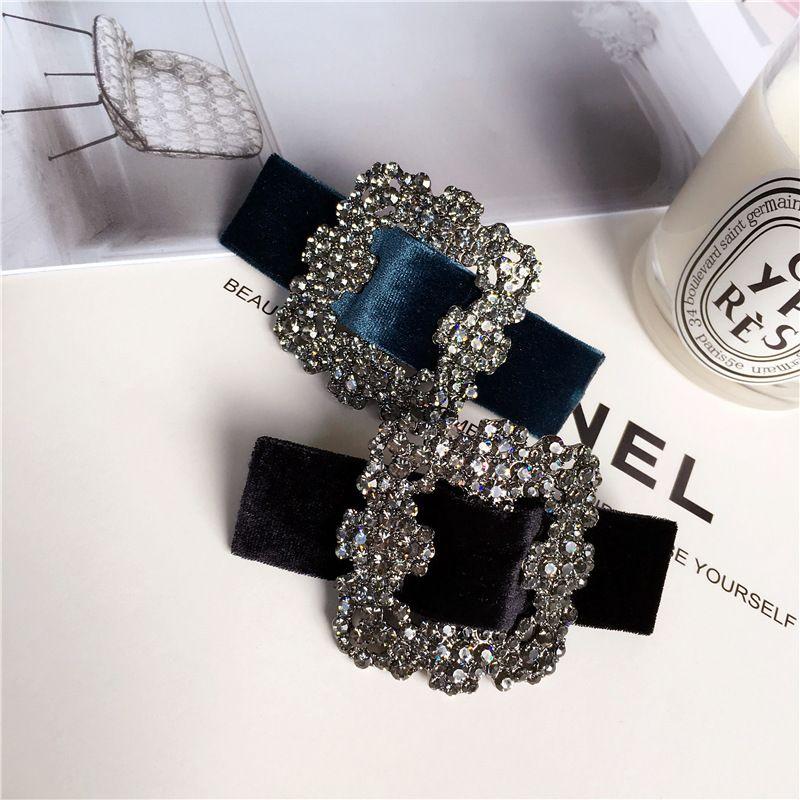 Mode Strass Frühling Haarspangen Haarschmuck Eleganz Frauen Luxuriöse Glitzernde Juwel Haarspangen Haarnadeln Haarspange C18111701