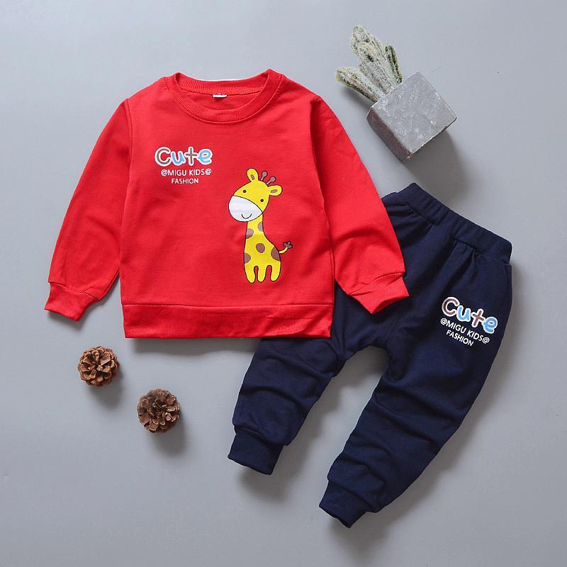 erkek giyim setleri yeni 2018 sonbahar ilkbahar çocuk erkek kız karikatür spor takım elbise çocuklar + pantolon eşofman takımları sweatshirt'ü