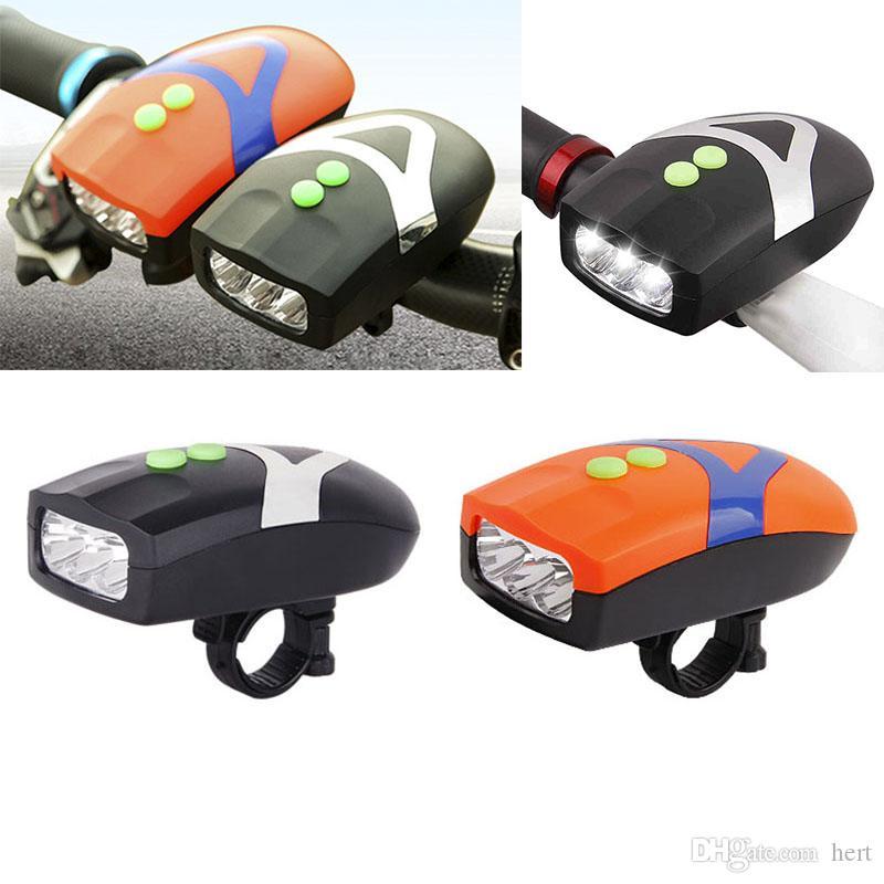 3 светодиодный велосипед Велосипед свет универсальный белый передняя головка Велоспорт лампа + электронный колокол Гудок Сирена водонепроницаемый аксессуары