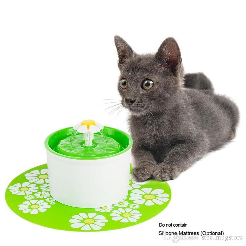 Elétrica automática de Stytle da flor 1,6 litros cão da fonte de água do animal de estimação / beber do gato