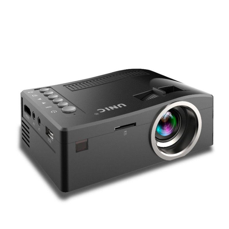 2018 Nuevo Original Unic UC18 Mini LED Proyector Portátil Proyectores de bolsillo Reproductor multimedia Juego de cine en casa Compatible con HDMI USB