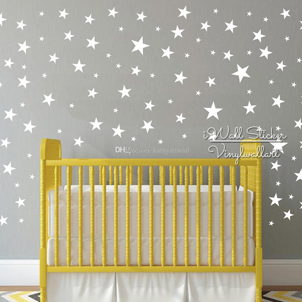 Cute Star Wall Sticker Baby Nursery Stars Wall Decal DIY Easy Wall Decors Kids Room Children High Quality Cut Vinyl Stickers P44