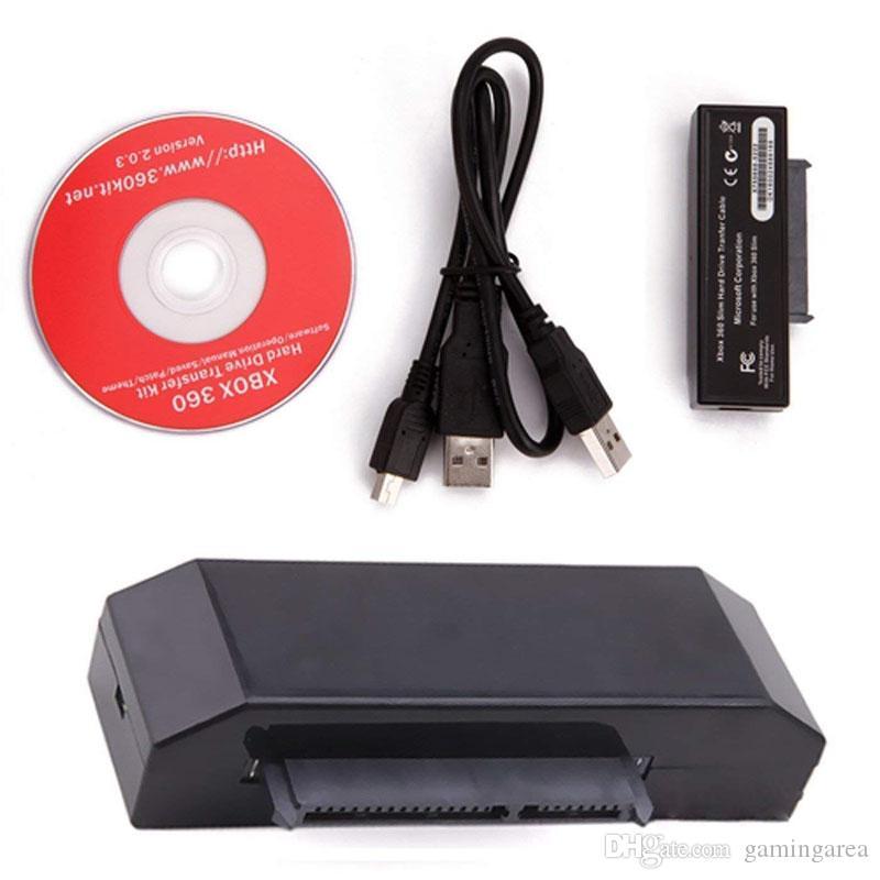 Festplattenübertragungskabel Konverter Adapter für Xbox 360 Slim HDD Datenübertragung USB Kabel Kabel Kit Hohe Qualität SCHNELLES SCHIFF