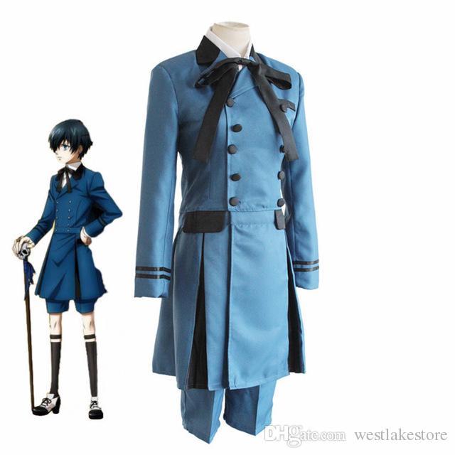 Black Butler Kurositsuji Ciel Phantomhive Cosplay Costume Emboitement Sebasti Kuroshitsuji Aristocrat Cosplay Costume
