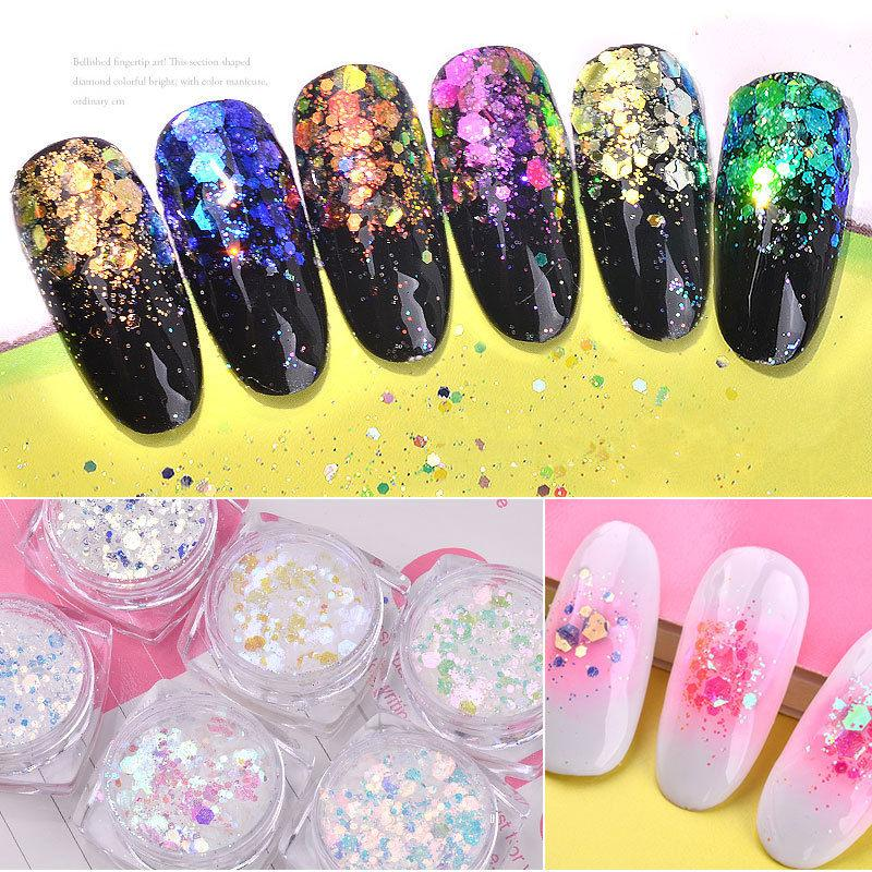 Y XLWN Japanese Manicure Sequins Super Flash Thick And Mixed Flash ...