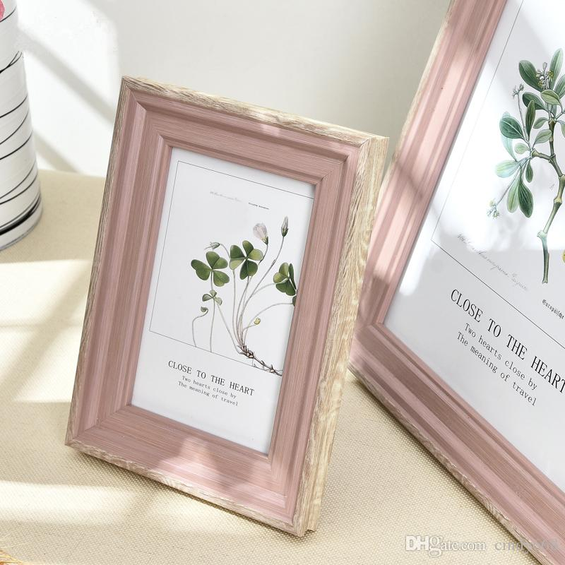 5 Sizes Rectangle Pictures Frames Resin Desk Table Decor Photo Frame with Transparent Organic Glass Wedding Family Photo Frames Home Decor