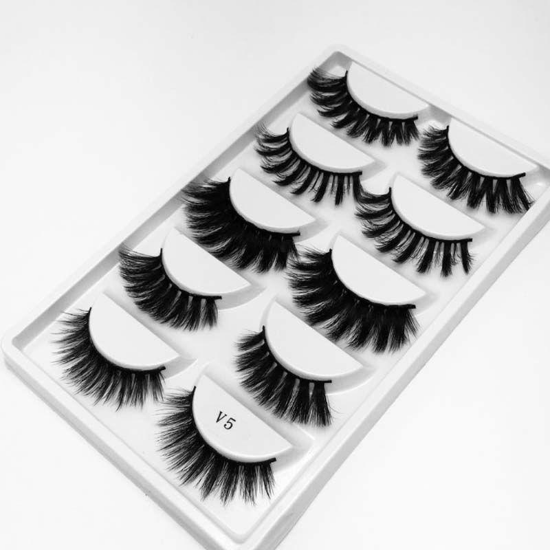 50 Conjuntos Misto Estilo cílios postiços Natural Longo Eye Lashes Fios vibração ferramentas de maquiagem de extensão # V1 # V2 # V3 # V5