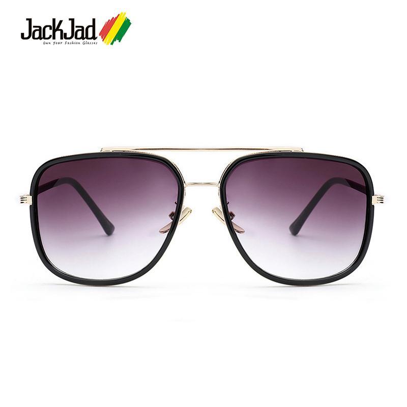 JackJad 2018 Moda Avocet Dois Estilo da Aviação Óculos De Sol de Qualidade Homem Quente Dos Homens UV400 Óculos De Sol Oculos De Sol Gafas Masculino D18102305