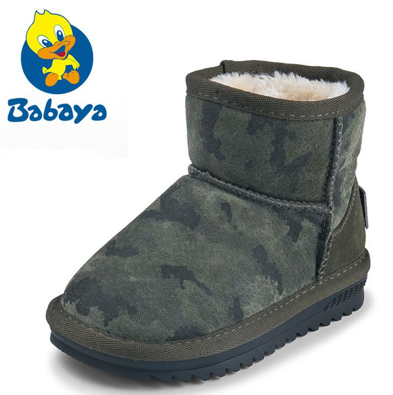 Clearance Kids Girls Warm Short Boots Children Students Winter Casual Shoes
