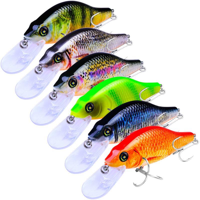 New BASS VISION ONETEN Esca da pesca 7.2cm 10.5g Tremante sospeso Nuoto Long-Lip Minnow Esca dura