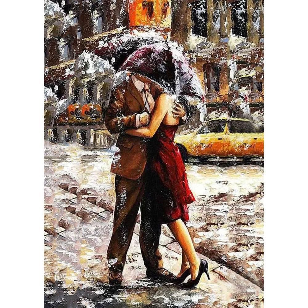 Foto Frameless Romantic Lover Diy Digital Painting By Numbers Modern Wall Art Canvas Gife unico per la decorazione domestica 40 * 50cm Arti