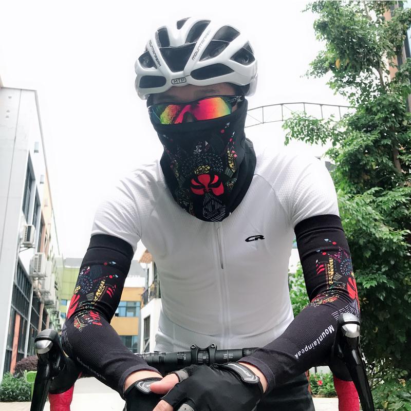 الأكمام + قناع تعيين طبقة واحدة للحماية من الشمس والأشعة فوق البنفسجية التبريد، صالح سليم، طول الأكمام الكاملة للصيد ركوب الدراجات القيادة الجري الرياضة في الهواء الطلق