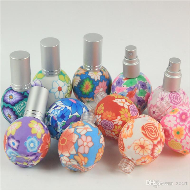5 adet / grup Boş 15 ml Polimer Kil Sprey Şişe Seyahat Doldurulabilir Cam Şişe Parfüm Boş Atomizer Konteyner Mix Renk