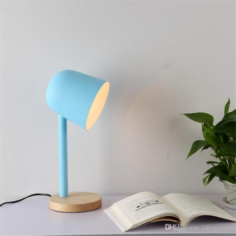Nordic Color Table Lamp Minimalist Creative Work Study Desk Lamp for Bedside Reading Study Office Table Light ,Drop Shipping