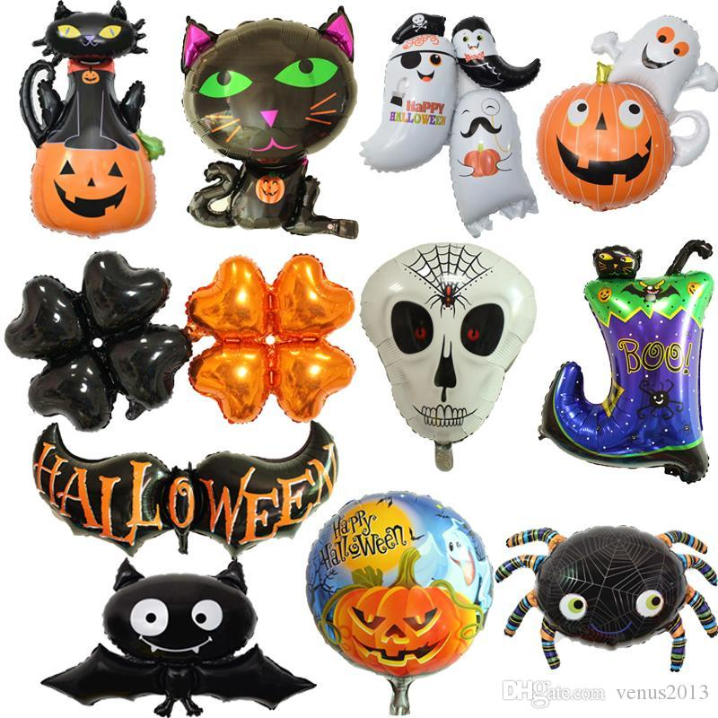 Halloween Inflatable Decorations Spider Bat Skeleton Pumpkin Party Bag Fillers