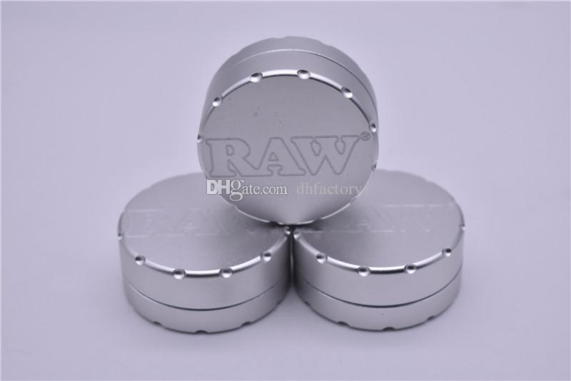 CNC RAW Grinders Metal Grinders para tabacos tabaco vidrio Hand Pipe Hookahs 47 mm RAW molinillo de hierba tabaco metal para fumar