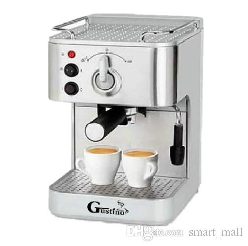 Gustino Aço Inoxidável 304 19Bar Semi Máquina De Café Máquina de Café Expresso com Leite Espuma para Casa ou Escritório Usando LLFA