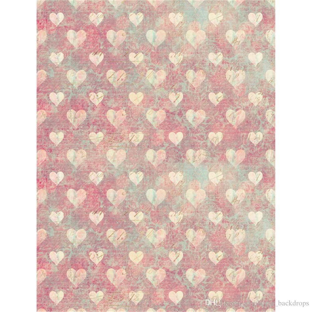 Compre Impresión Digital Love Hearts Telones De Fondo De Vinilo Para ...